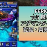 FFRKプレイ日記 魔石ダンジョン ☆5地  アダマンタイマイに勝ったってハナシ